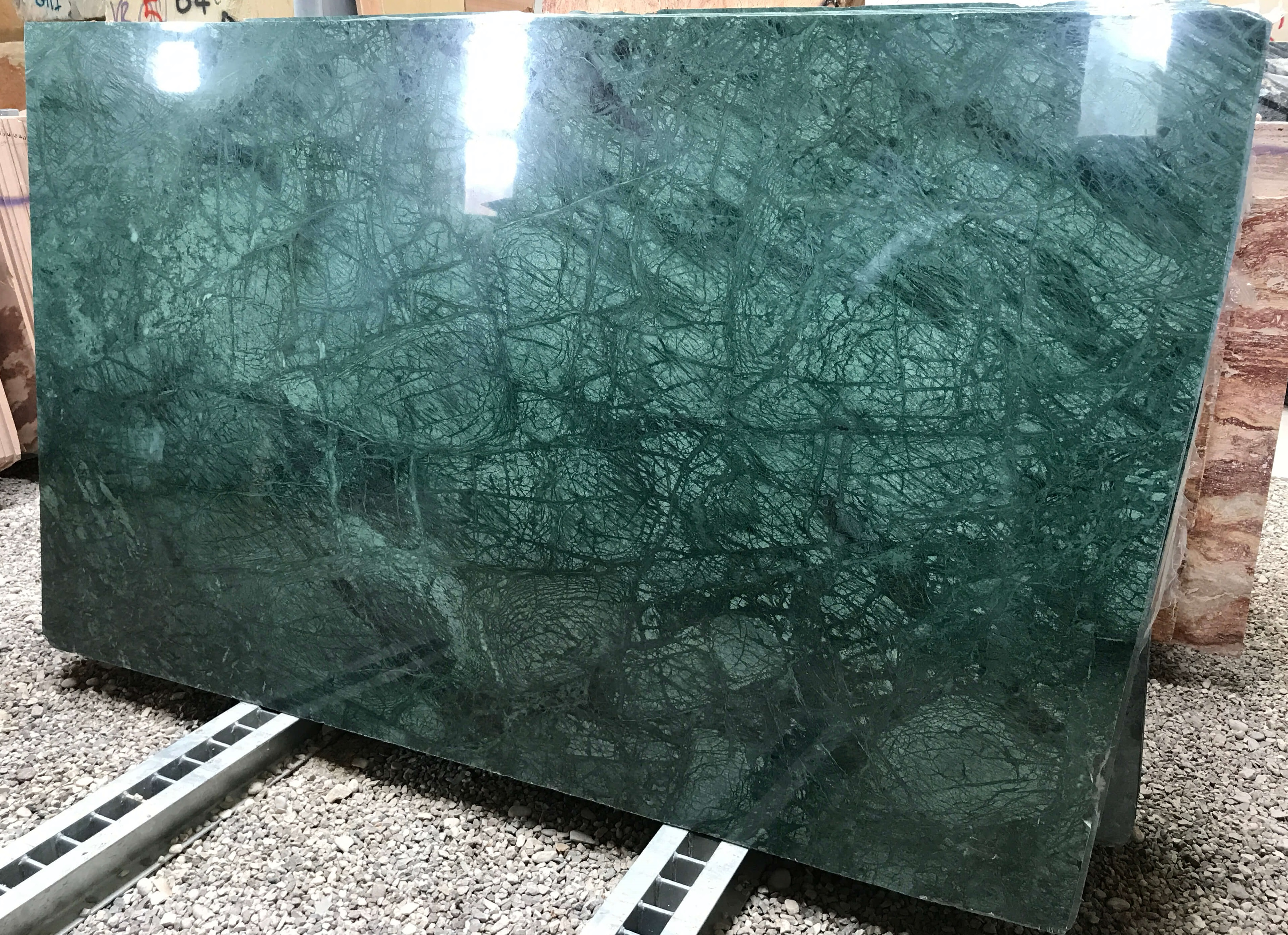 Verde Guatemala Cm 3 Lucido Tecchi Marmi S R L